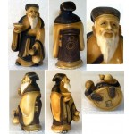 Splendide et authentique Netsuke ivoire finement sculpte